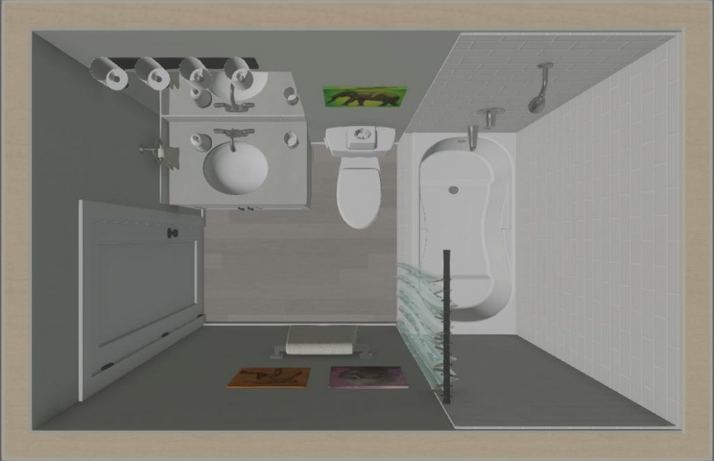 overview of essentials bathroom renovation with soaker bathtub